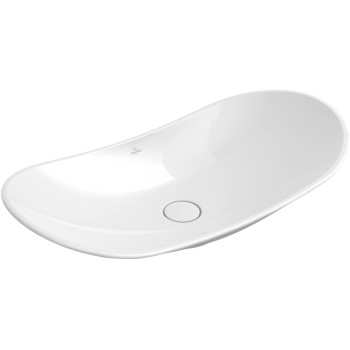 Surface-mounted washbasin Oval My Nature, 411080, 810 x 410 mm