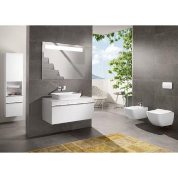 Semi-recessed washbasin Rectangle Venticello, 411355, 550 x 360 mm