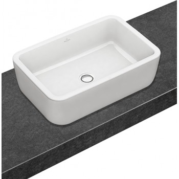 Surface-mounted washbasin Rectangle Architectura, 412760, 600 x 410 mm