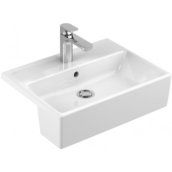 Semi-recessed washbasin Rectangle Memento, 413355, 550 x 425 mm