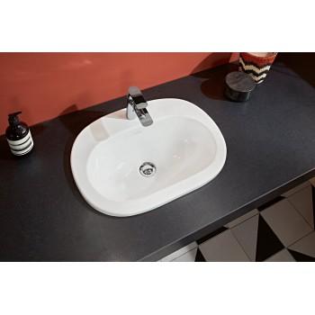 Built-in washbasin Oval O.novo, 416156, 560 x 405 mm