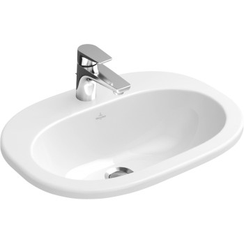 Built-in washbasin Oval O.novo, 416156, 560 x 405 mm