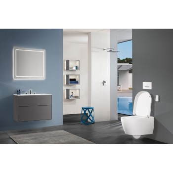 Vanity washbasin Rectangle Finion, 416480, 800 x 500 mm