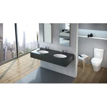 Undercounter washbasin Oval Lunea, 512050, 495 x 360 mm