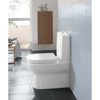 Washdown toilet for close-coupled toilet-suite Oval O.novo, 565810, 360 x 640 mm