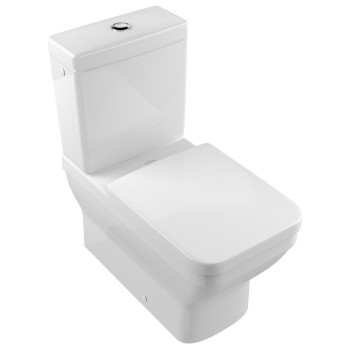 Washdown toilet for close-coupled toilet-suite Rectangle Architectura, 568710, 370 x 700 mm