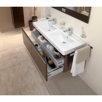 Double vanity washbasin Rectangle Architectura, 613113, 1300 x 485 mm