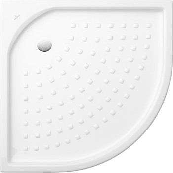 Quadrant shower tray Quarter circle O.novo, 620990, 900 x 900 x 55 mm, Side length: 900 mm, Shower tray depth: 35 mm