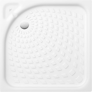 Square shower tray Square O.novo, 621580, 800 x 800 x 65 mm, Shower tray depth: 30 mm