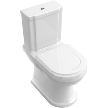 Washdown toilet for close-coupled toilet-suite Oval Hommage, 666210, 370 x 725 mm