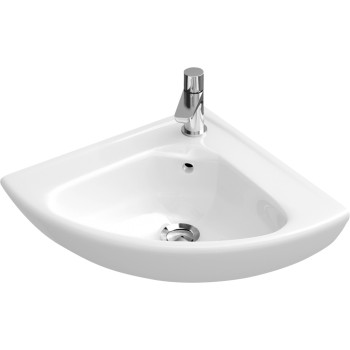 Corner handwashbasin Compact Quarter circle O.novo, 732740, Side length: 415 mm