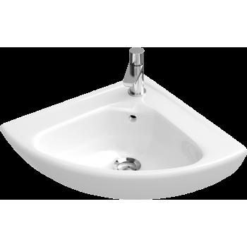 Corner handwashbasin Compact Quarter circle O.novo, 732740, Side length: 415 mm