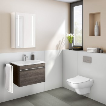 Toilet flush plate Angular ViConnect, 922400, 269 x 161 x 13 mm