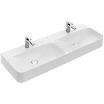 Double washbasin Rectangle Finion, 4139D2, 1300 x 470 mm
