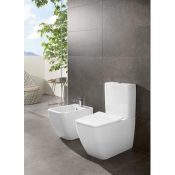 Washdown toilet for close-coupled toilet-suite, rimless Rectangle Venticello, 4612R0, 375 x 700 mm