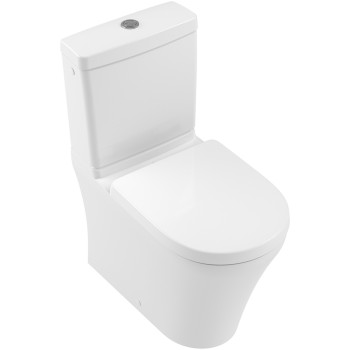 Washdown toilet for close-coupled toilet-suite, rimless Oval O.novo, 4625R0, 360 x 610 mm