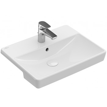 Semi-recessed washbasin Rectangle Avento, 4A0655, 550 x 440 mm