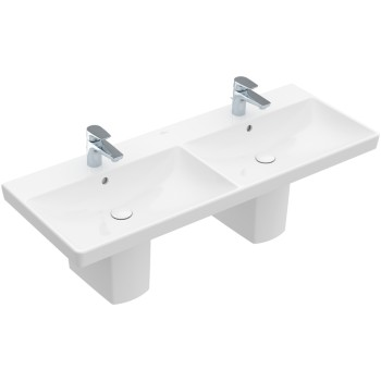 Double vanity washbasin Rectangle Avento, 4A23CK, 1200 x 470 mm