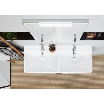 Double vanity washbasin Rectangle Avento, 4A23CK, 1200 x 470 mm