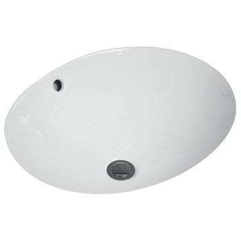Undercounter washbasin Oval O.novo, 4A3038, 380 x 310 mm
