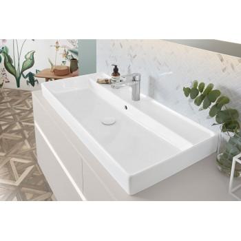 Vanity washbasin Rectangle Collaro, 4A331G, 1000 x 470 mm