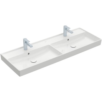 Double vanity washbasin Rectangle Collaro, 4A34D1, 1300 x 470 mm