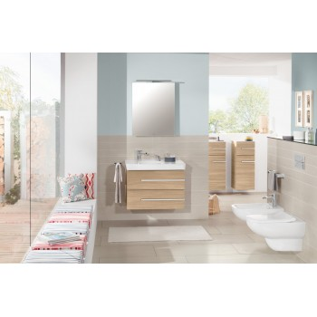 Washdown toilet, rimless Rectangle Joyce, 5607R0, 370 x 560 mm