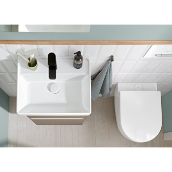 Washdown toilet, rimless Oval Subway 2.0, 5614A1, 370 x 560 mm