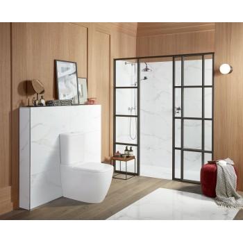 Washdown toilet for close-coupled toilet-suite, rimless Rectangle Antheus, 5616R0, 375 x 700 mm