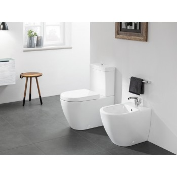 Washdown toilet for close-coupled toilet-suite, rimless Oval Subway 2.0, 5617R0, 370 x 700 mm