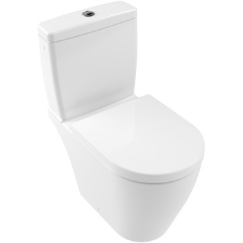Washdown toilet for close-coupled toilet-suite, rimless Oval Avento, 5644R0, 370 x 640 mm
