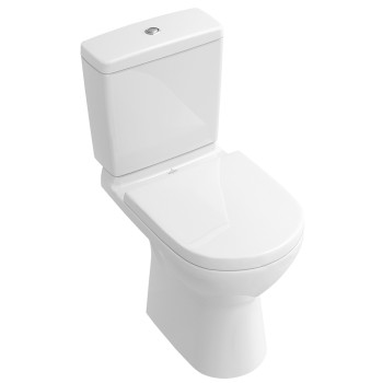 Washdown toilet for close-coupled toilet-suite, rimless Oval O.novo, 5661R0, 360 x 670 mm