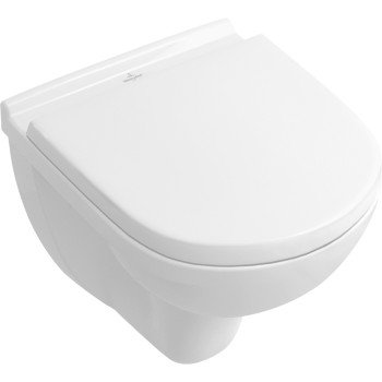 Washdown toilet Compact, rimless Oval O.novo, 5688R0, 360 x 490 mm