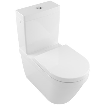 Washdown toilet for close-coupled toilet-suite, rimless Rectangle Architectura, 5691R0, 370 x 700 mm