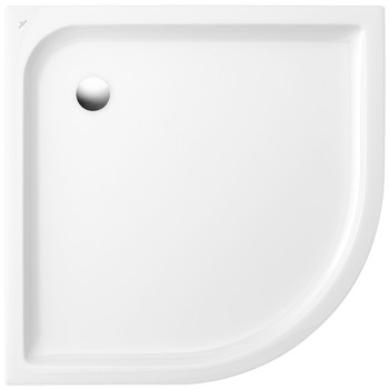Quadrant shower tray Quarter circle O.novo Plus, 6213C3, 800 x 800 x 60 mm, Side length: 800 mm