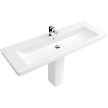 Vanity washbasin Rectangle Subway 2.0, 7176D0, 1300 x 470 mm
