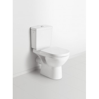 Washdown toilet, rimless Round O.novo, 7618R1, 360 x 550 mm