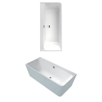 Bath Back-to-wall bath, left-hand model Collaro, UBA180COR9CLBCVD, 1800 x 800 mm