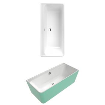 Bath Back-to-wall bath, right-hand model Collaro, UBA180COR9CRBCVD, 1800 x 800 mm