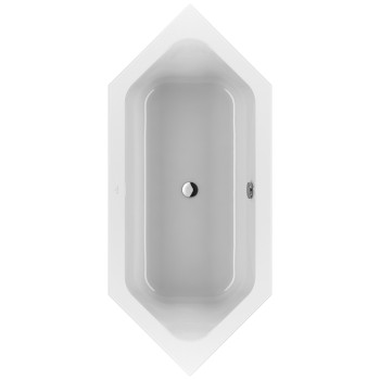 Bath Hexagonal Loop & Friends, UBA205LFS6V, 2050 x 900 mm