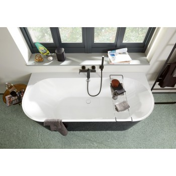 Bath Back-to-wall bath Oberon 2.0, UBQ180OBR9CDBCV, 1800 x 800 mm