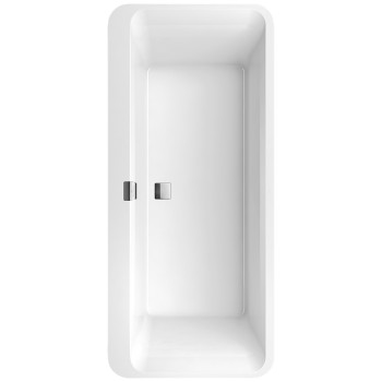 Bath Oval Squaro Edge 12, UBQ180SQE7DV, 1800 x 800 mm