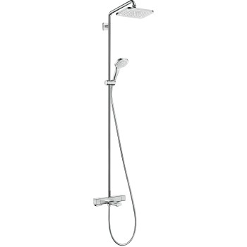 Croma E Showerpipe 280 1jet with bath thermostat